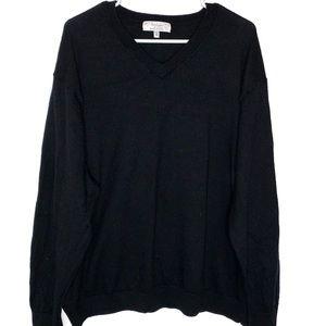 Turnbury Extra Fine Merino Wool Sweater Black 3X